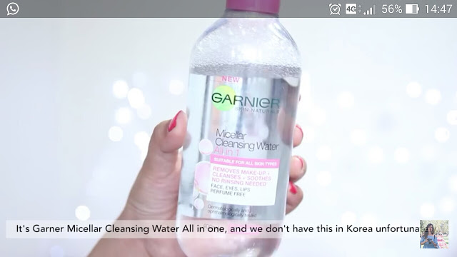 Liah Yoo; March 2016 Favourite Item; Garnier Micellar Cleansing Water All-in-1