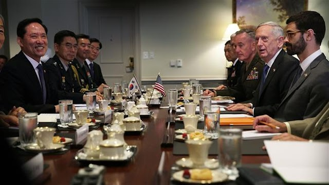 """US is """"never out of diplomatic solutions"""" in dealing with North Korea : US Defense Secretary James Mattis"""