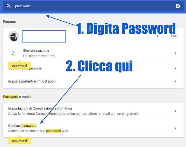 come vedere la mia password di facebook su chrome