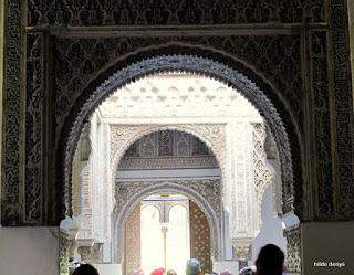 Mudejar plasterwork, Alcazar, Seville, Spain.