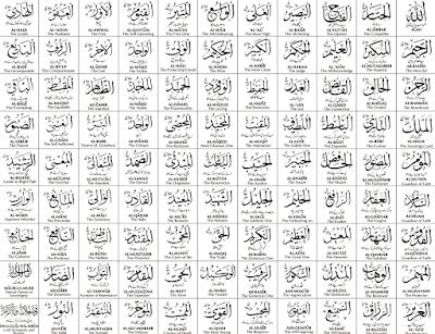 Asma ul Husna 99 Nama Nama Allah