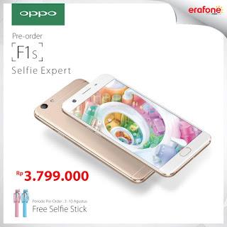 Pre-Order OPPO F1s Rp 3.799.000 Bonus Selfie Stick (Tongsis)