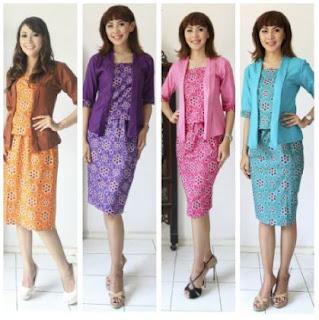 Setelan batik cantik untuk remaja wanita pegawai bank