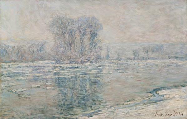 Клод Моне Льдины. Туманное утро