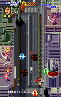 Mazinger Z+arcade+game+portable+shoot'em up+download free