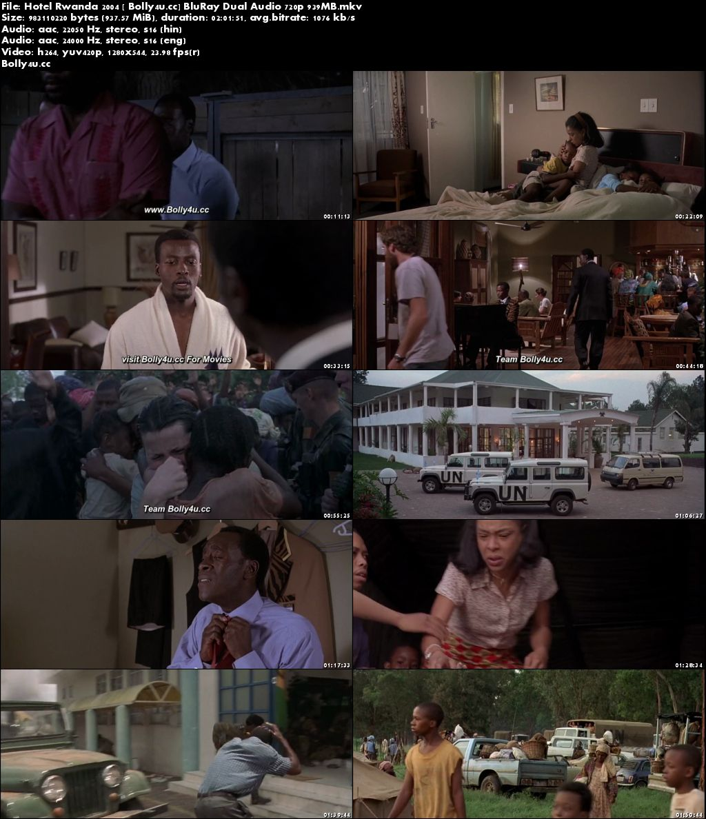 Hotel Rwanda 2004 BluRay 350MB Hindi Dual Audio 480p Download