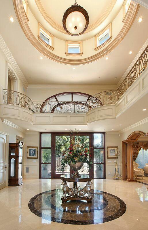 40 Luxurious Grand Foyers For Your Elegant Home: ديكورات صالون ضيوف جبصين عربي نقشات اسقف من الحبس