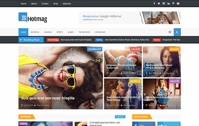 Hot Mag Blogger Template