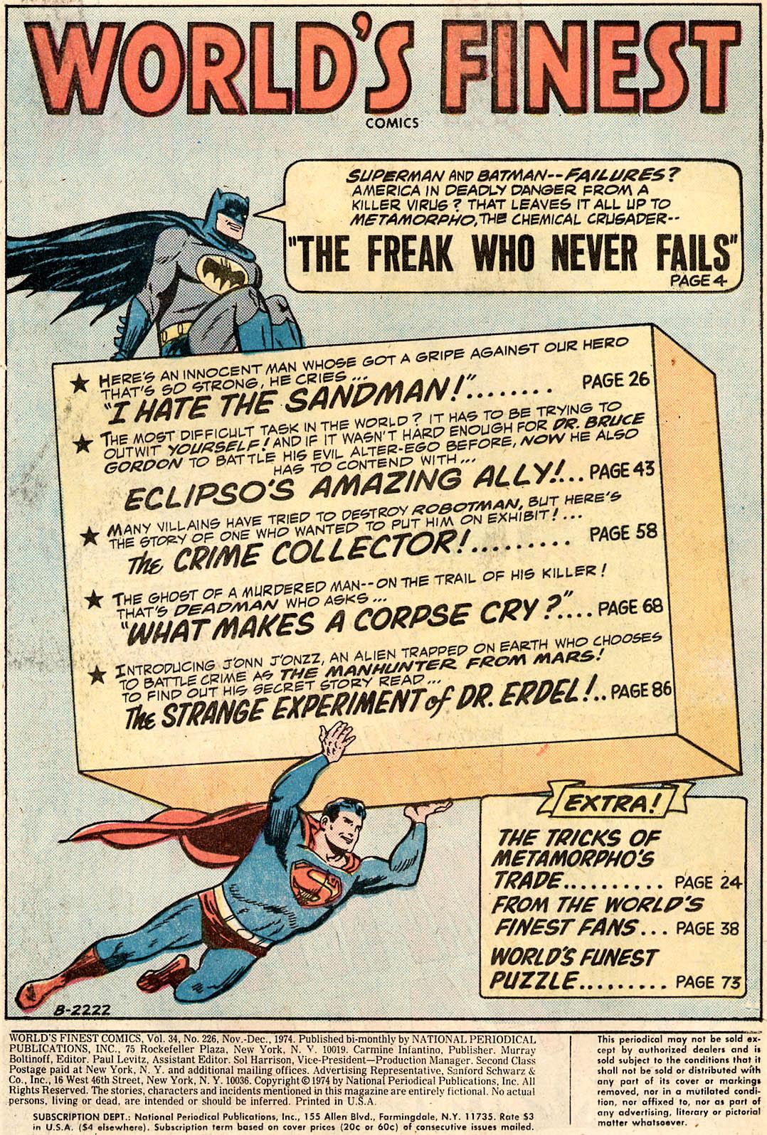 Read online World's Finest Comics comic -  Issue #226 - 2