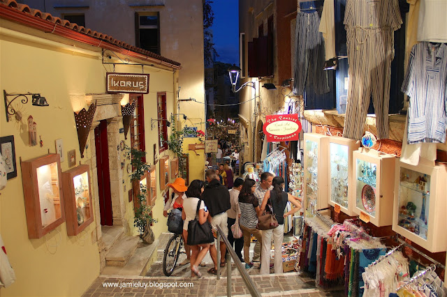 Shopping at Old Town, Chania, Crete, Greece