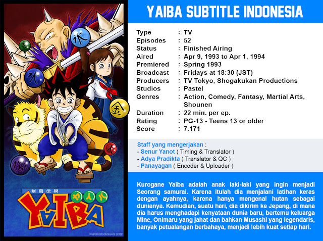 Download Yaiba Subtitle Indonesia