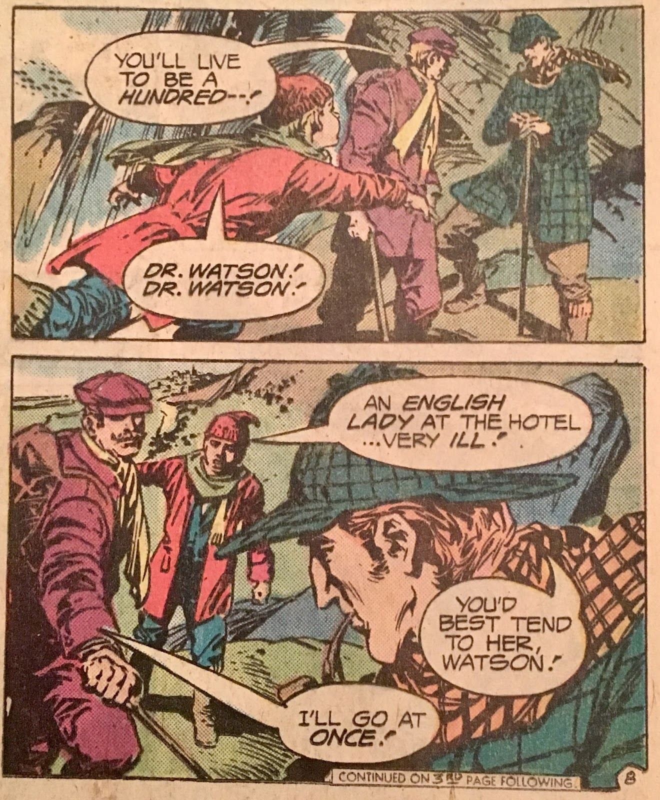 Chris is on Infinite Earths: Sherlock Holmes #1 (1975)