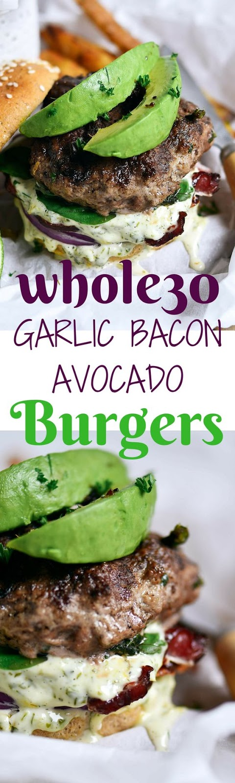 PALEO BACON GARLIC AVOCADO BURGER