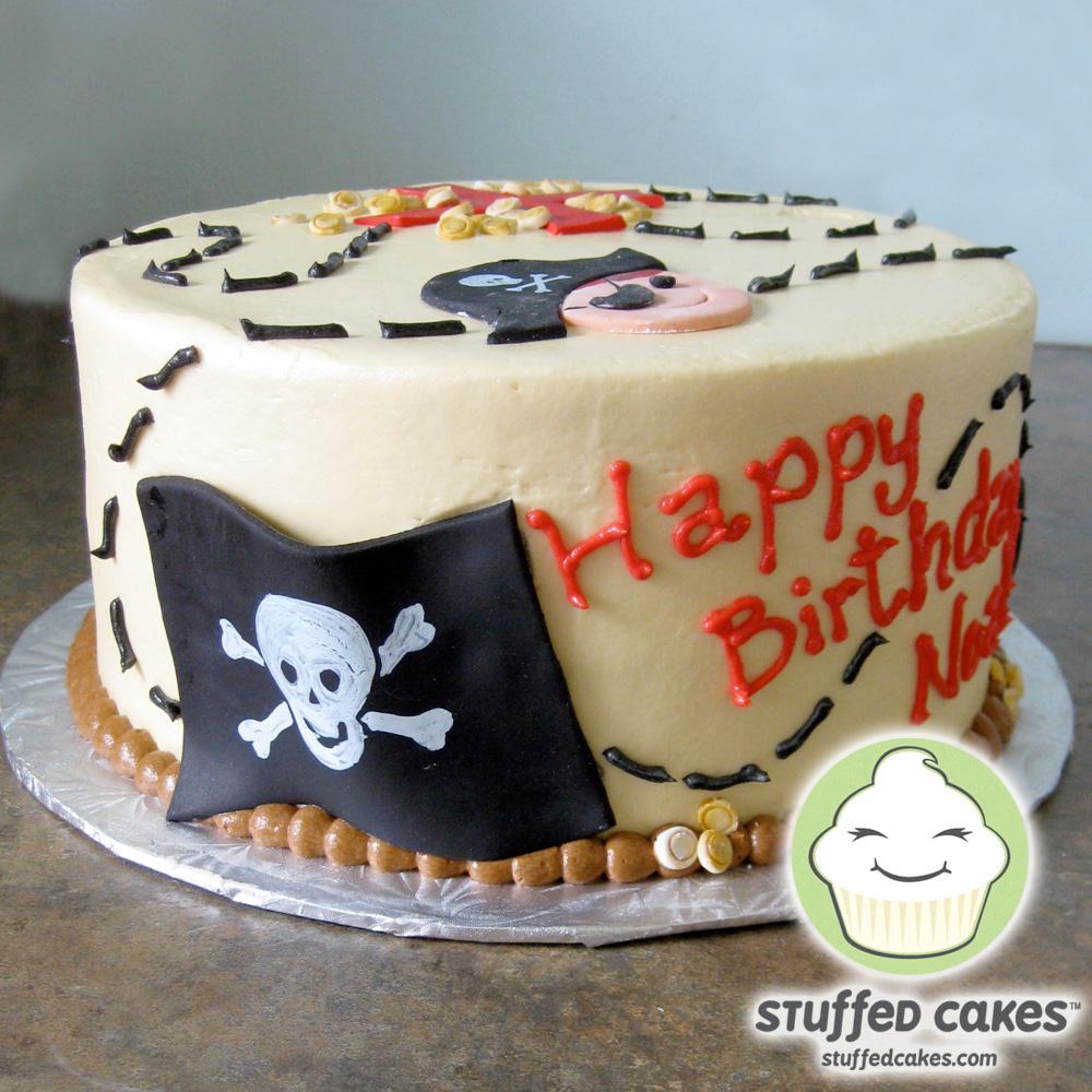 Stuffed Cakes Pirate Treasure Cake