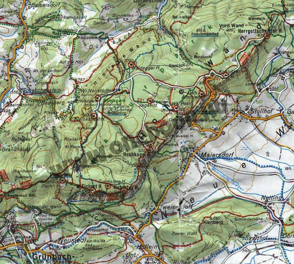 ausztria turista térkép Onedoor: Túratérképek a neten: 3. Ausztria ausztria turista térkép