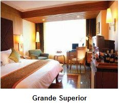 A superior room at Majestic Grande