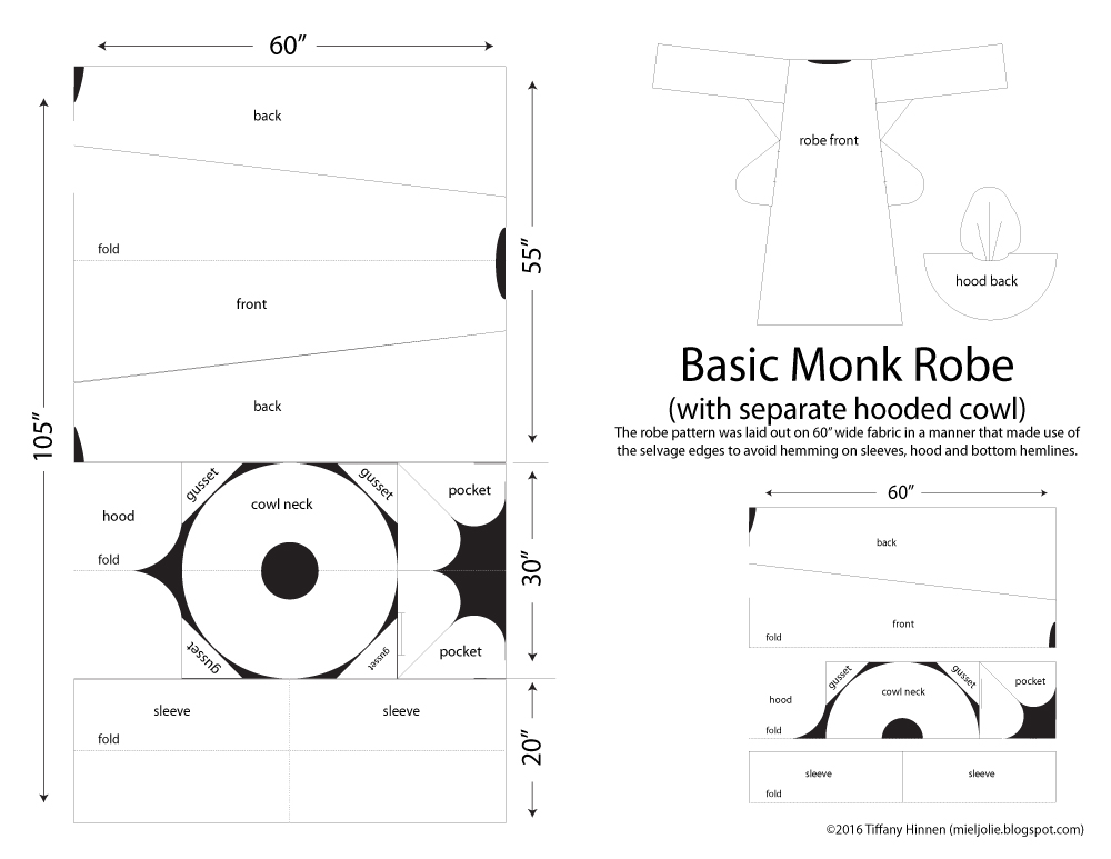 All Things Crafty: Monk Robe Pattern with Hooded Cowl