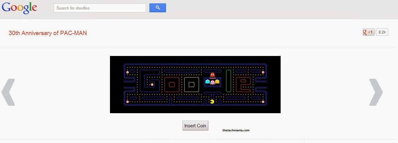 Google Pacman-Google Tricks