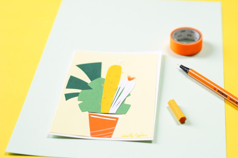 cactus paper cut