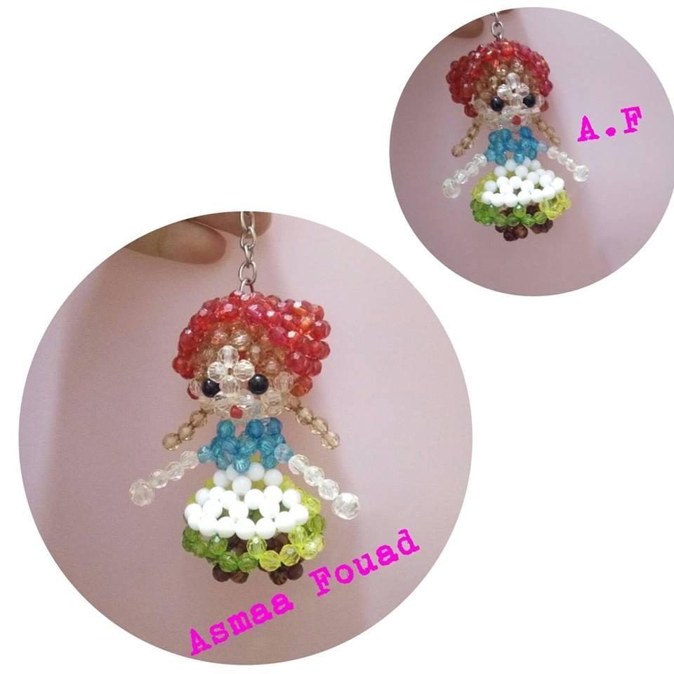 72c4c561a95c6 حصرى طريقة عمل ميدالية على شكل عروسة من الخرز - أسماء فؤاد لمشغولات ...
