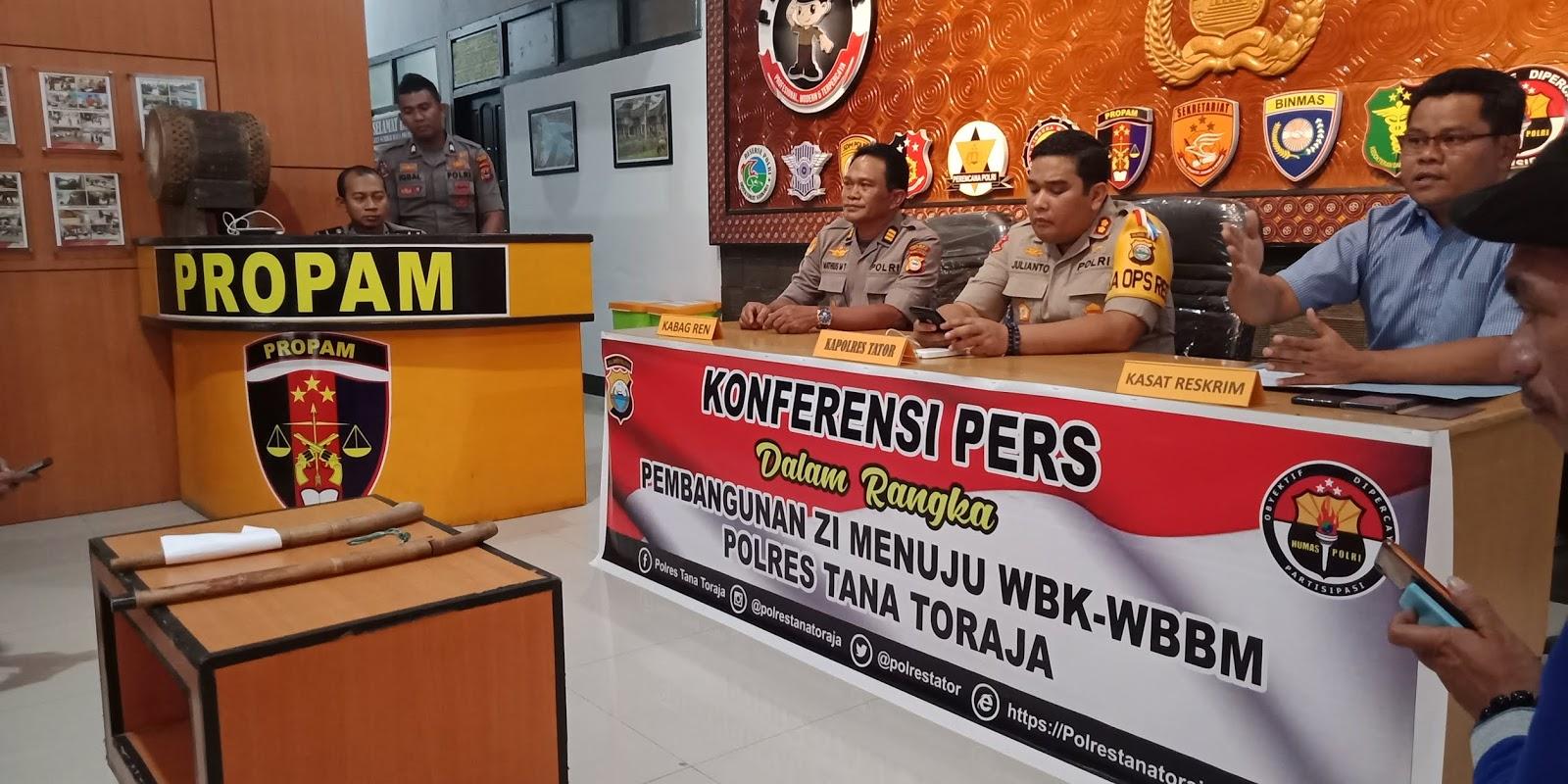Berulang Kali Pakai Narkoba, Satu Personil Polres Tana Toraja Diberhentikan Secara Tidak Hormat