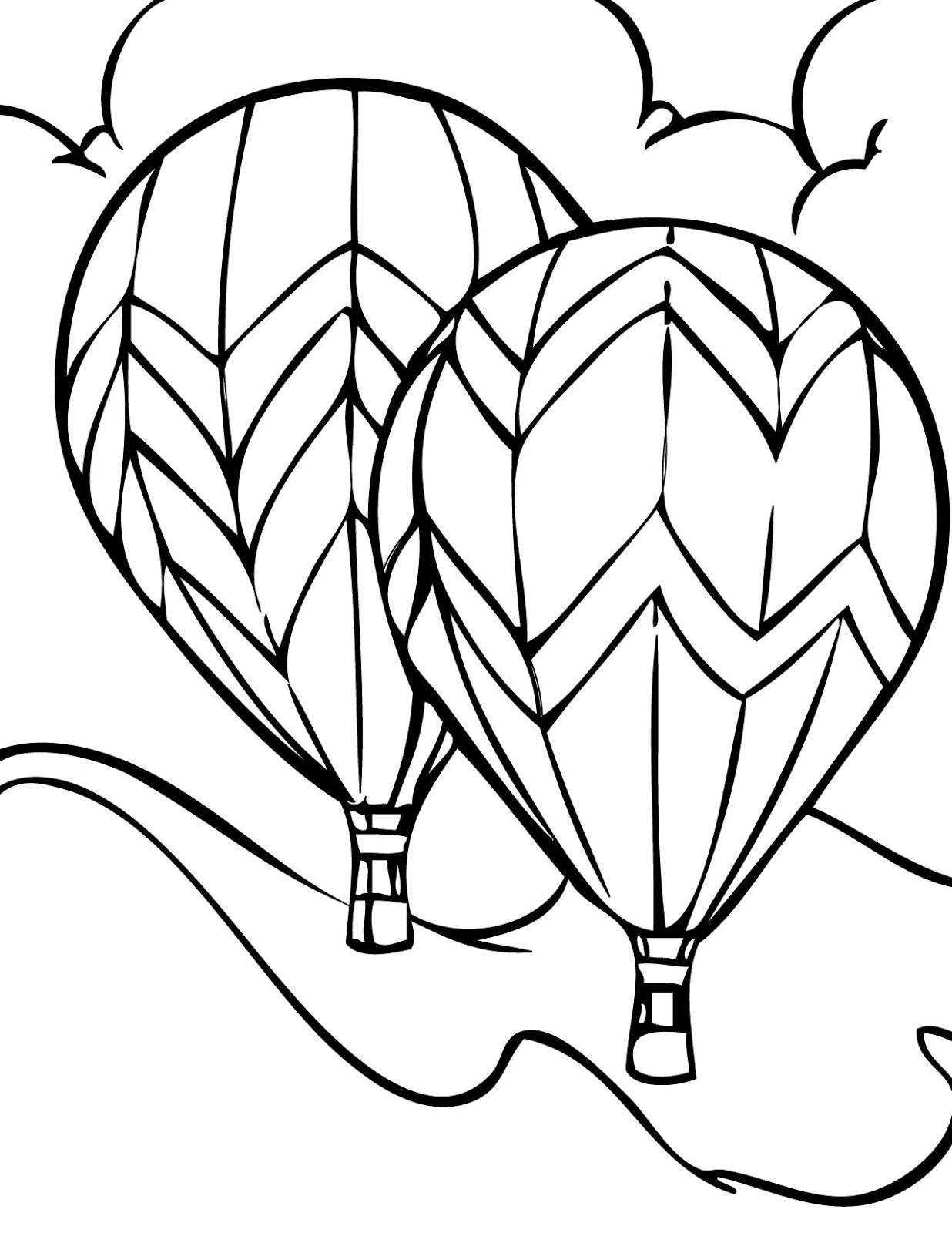 Gambar Mewarnai Balon Udara 8