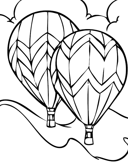 Gambar Mewarnai Balon Udara - 8
