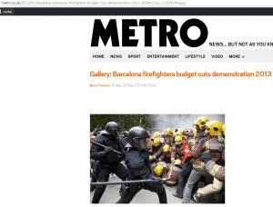 Diego Batlle, La Nación , manipuló, imágenes , no correspondían al 1-O,Usó imágenes correspondientes al 2013