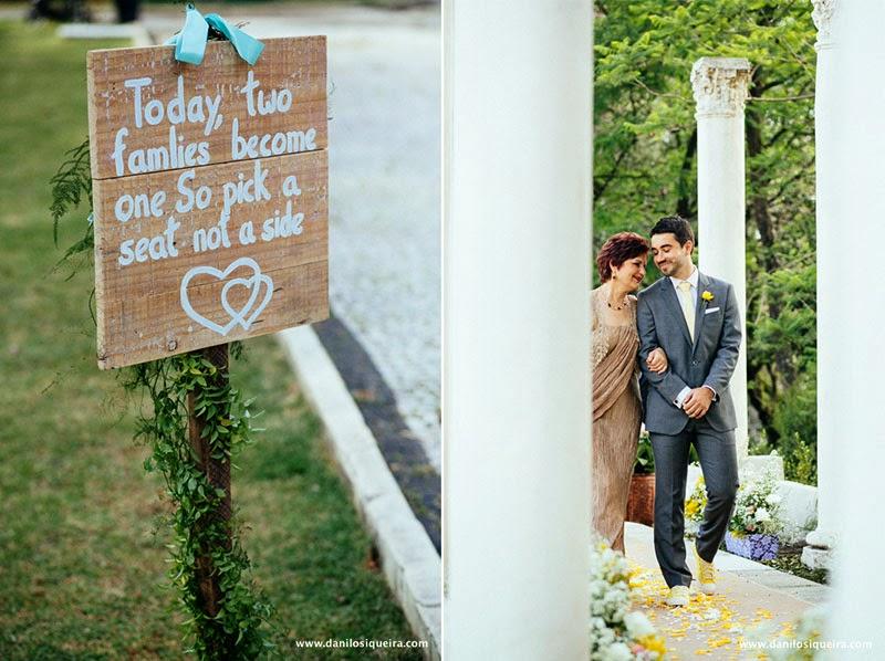 cerimonia - noivo - entrada noivo - mae noivo - placa casamento - plaquinha indicacao - plaquinha casamento - azul tiffany - algo azul - something blue - casamento de dia - casamento ao ar livre