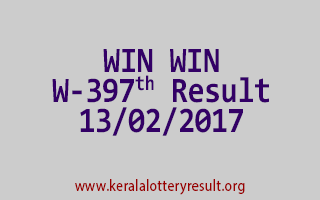 WIN WIN W 397 Lottery Results 13-02-2017