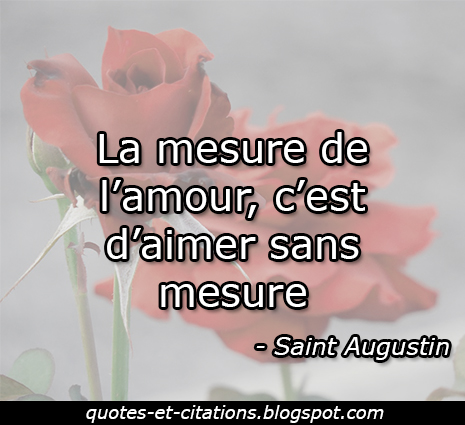 citation la mesure de l'amour