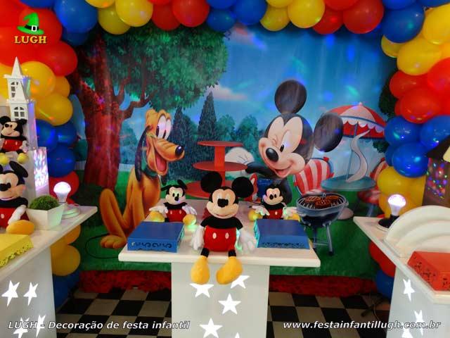 Decoração de mesa de aniversário tema do Mickey - Festa temática
