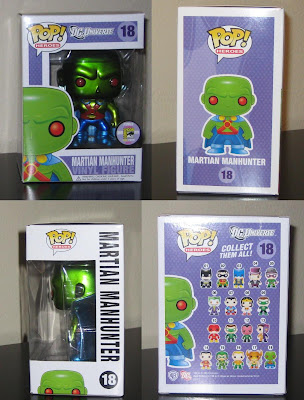 San Diego Comic-Con 2011 Exclusive Martian Manhunter Metallic Variant DC Universe Pop! Heroes Vinyl Figure Packaging by Funko