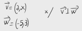 50. Vectores ortogonales y parámetro