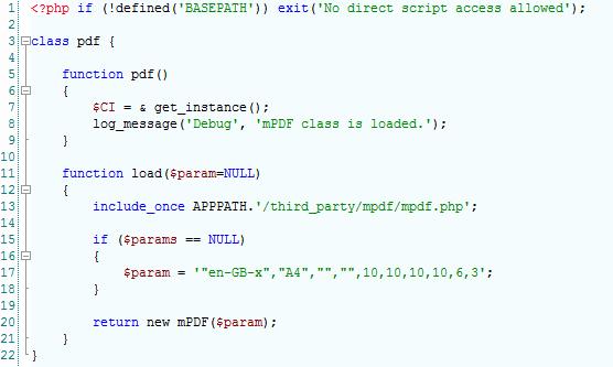 How to create PDF File using mPDF ~ Codeigniter