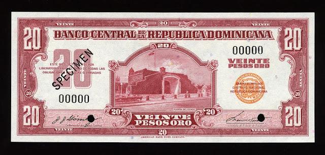 20 Dominican Pesos Oro banknote