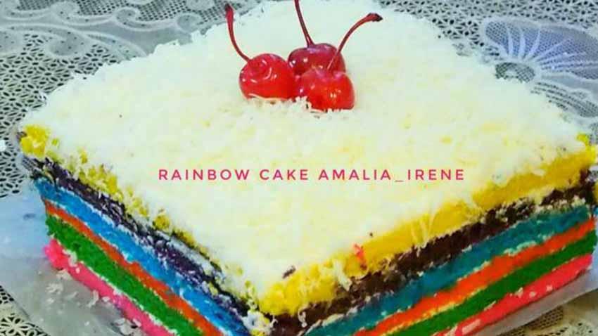 Resep Rainbow Cake Kukus Ny.Liem