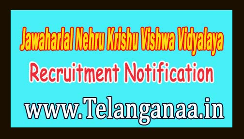 Jawaharlal Nehru Krishu Vishwa Vidyalaya JNKVV Jabalpur Recruitment Notification 2016