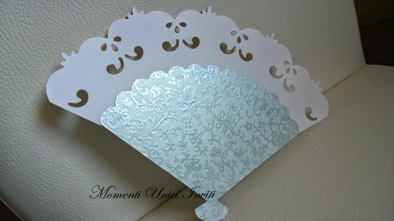 ventaglio Ventaglio con lavorazione a rilievo e bordatura intagliataVentagli