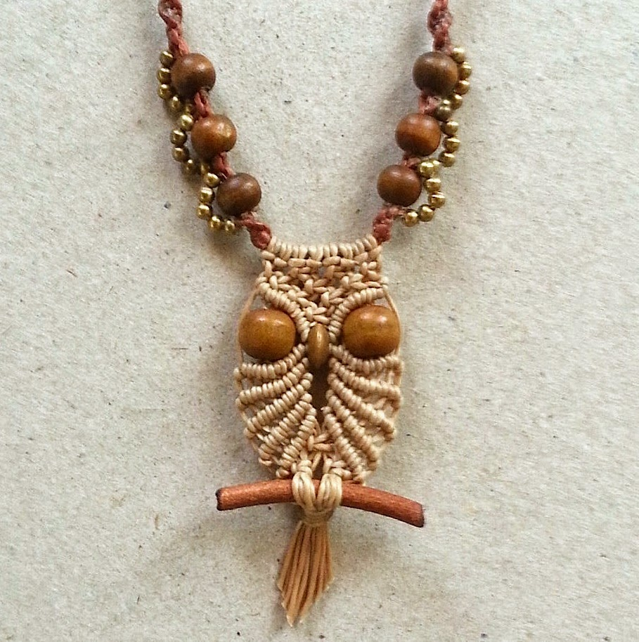 macrame necklace pattern ecocrafta macrame small owl macrame necklace 8805