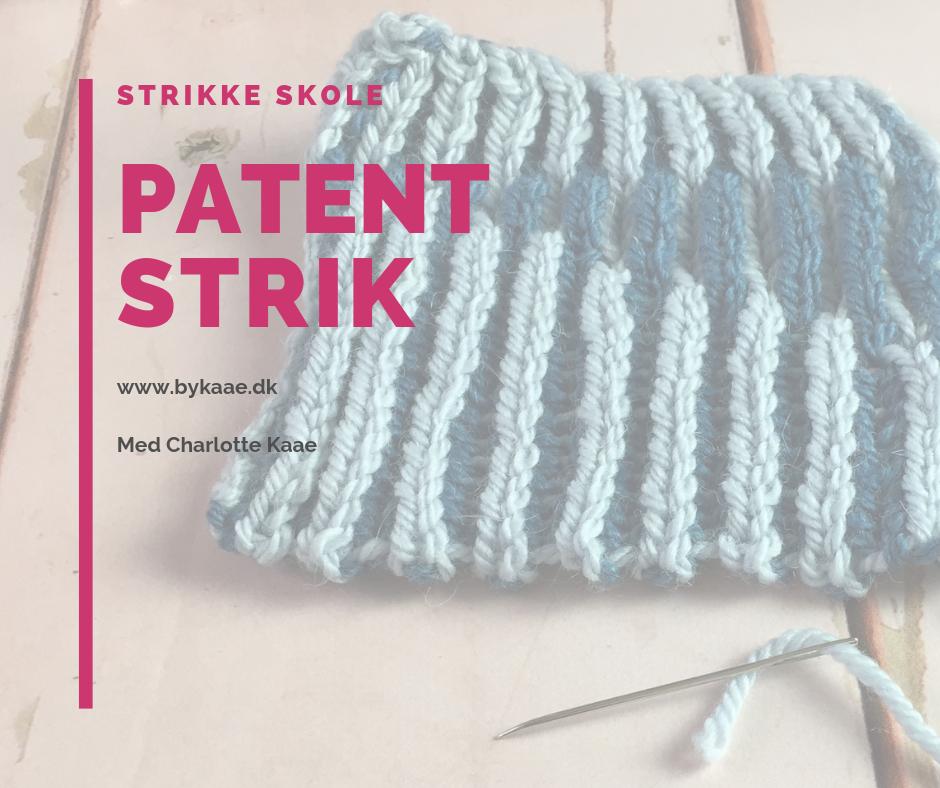 2 farvet patentstrik