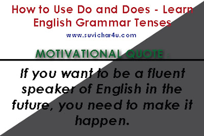 How to use Do & does in American English