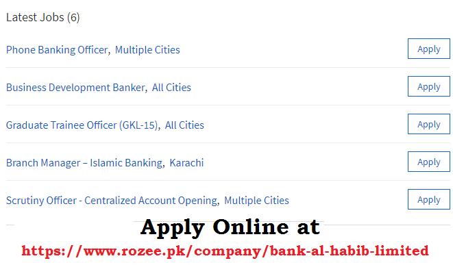 Bank Al Habib careers 2019, bank al habib jobs 2019, Bank Al Habib Limited Jobs 2019 for Fresh Graduates