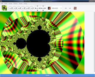 Gnofract gere gráficos fractais