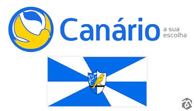 impunes cidade canário logotipo logomarca logo bandeira