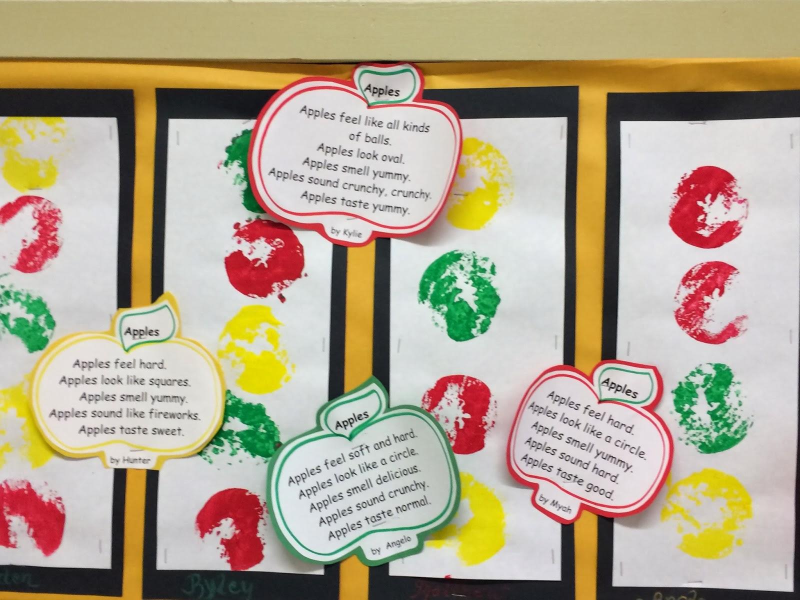 Mrs Parzych S Kindergarten Apple Prints And Poems
