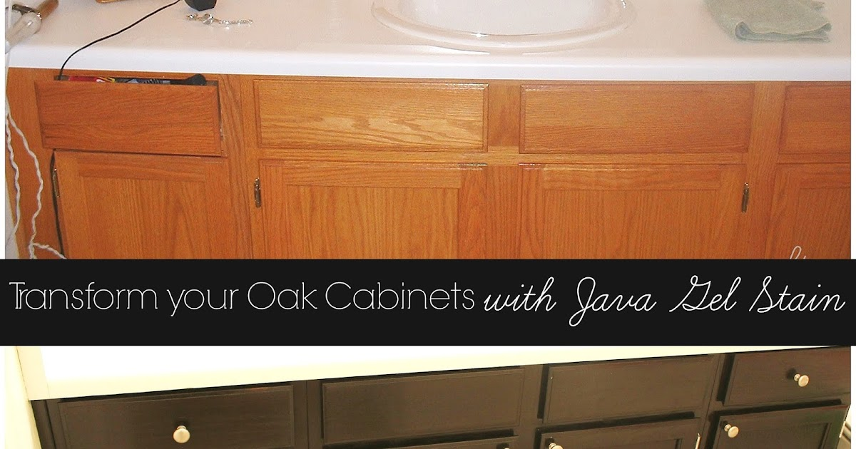 Transform Your Golden Oak Cabinets With Java Gel Stain