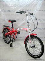 1 Sepeda Lipat Phoenix NP16-2020 6 Speed Shimano RevoShift 16 Inci