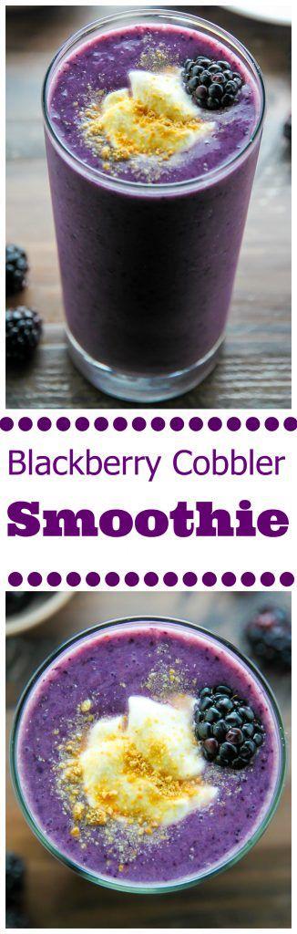 Blackberry Cobbler Smoothie