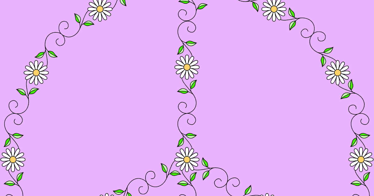 Don't Eat the Paste: Spring Peace Symbol- coloring page